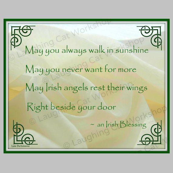 Irish print Irish blessing wall art Irish quote print St Patrick Day ...