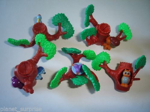 TOYS COLLECTIBLES 3D PUZZLE TREES /& ANIMALS 1998 KINDER SURPRISE SET