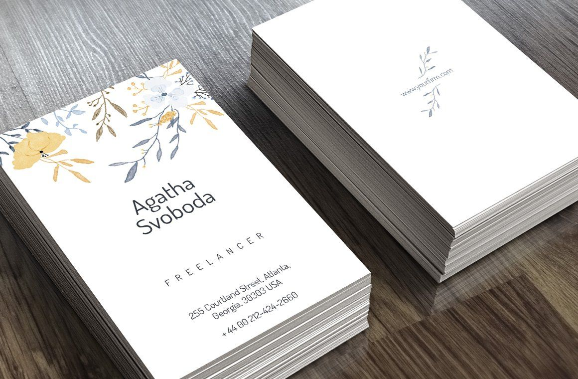 love the simplicity of this Flower Business Card - Business Cards ...