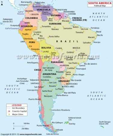 South America Maps | Maps and more maps | Pinterest | South america ...