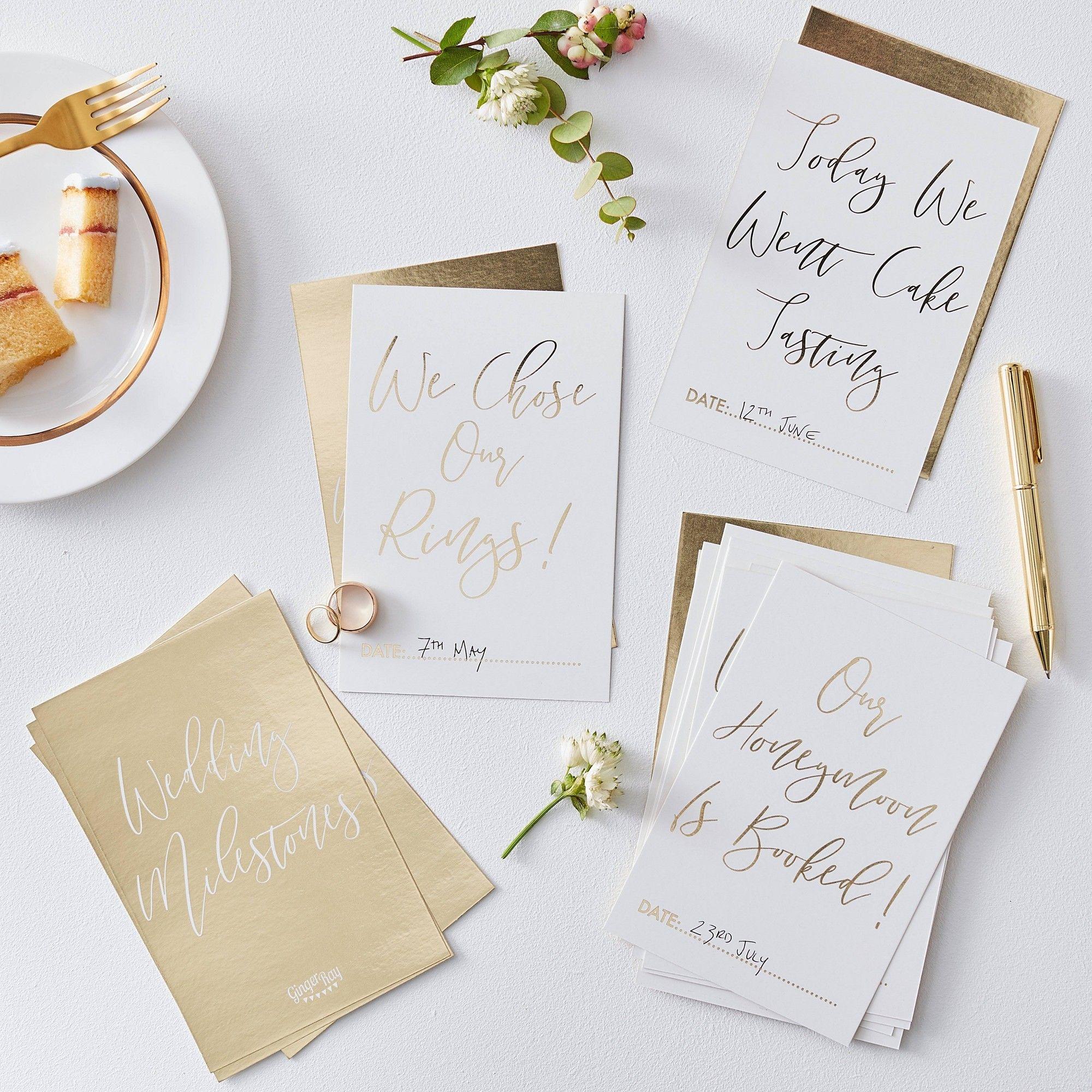 Wedding Milestone Card Gold