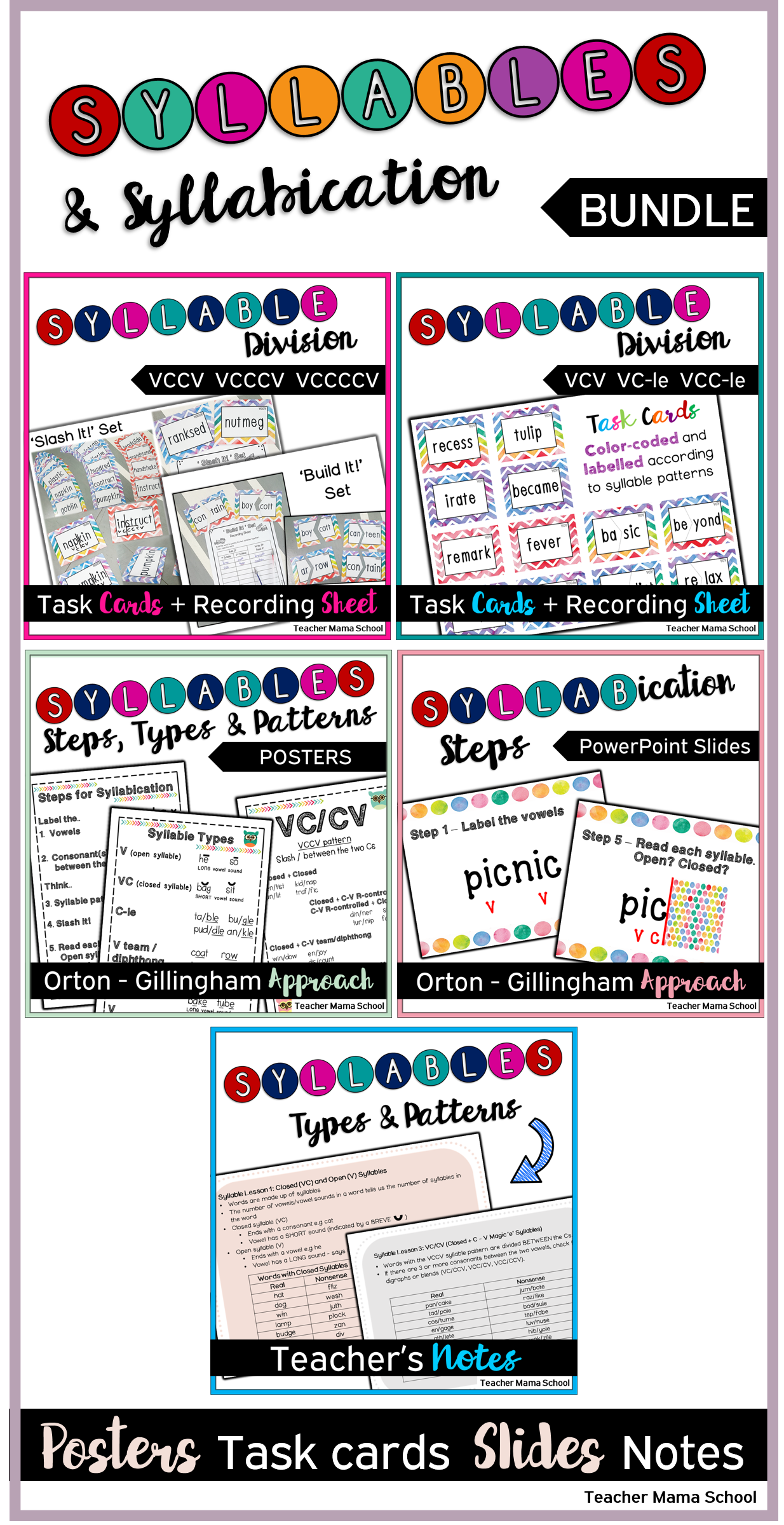 7 Times Tables Worksheets Syllables And Syllabication  Bundle   Syllable Literacy And  Stages Of Mitosis Worksheet Pdf with Multiplying And Dividing Worksheets Teacher Cognitive Distortions Worksheets