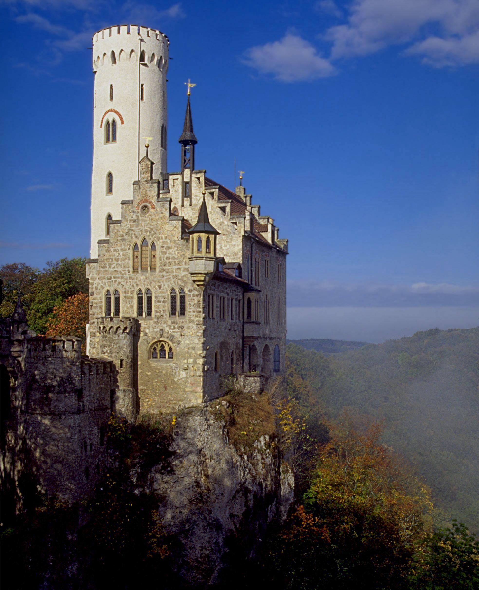 Schloss Lichtenstein Deutschland Burgen Mittelalterliche Burg