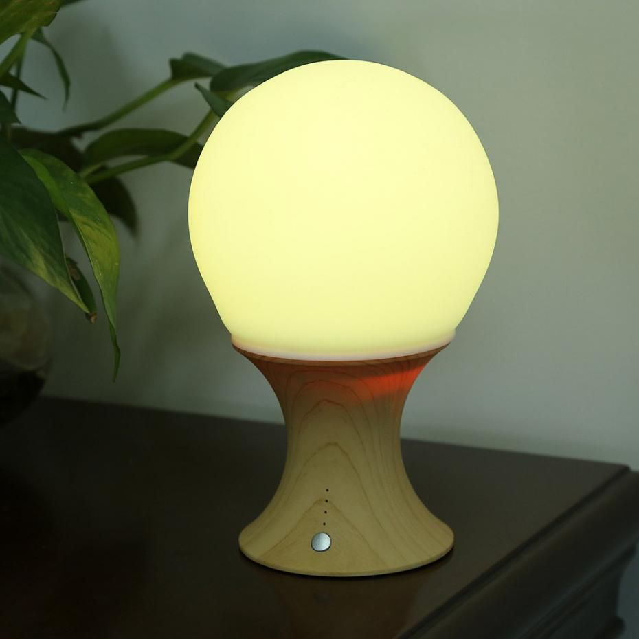 Rechargeable LED Silicone Colorful Table Lamp Night Light For Kids Children  Bedroom Decor
