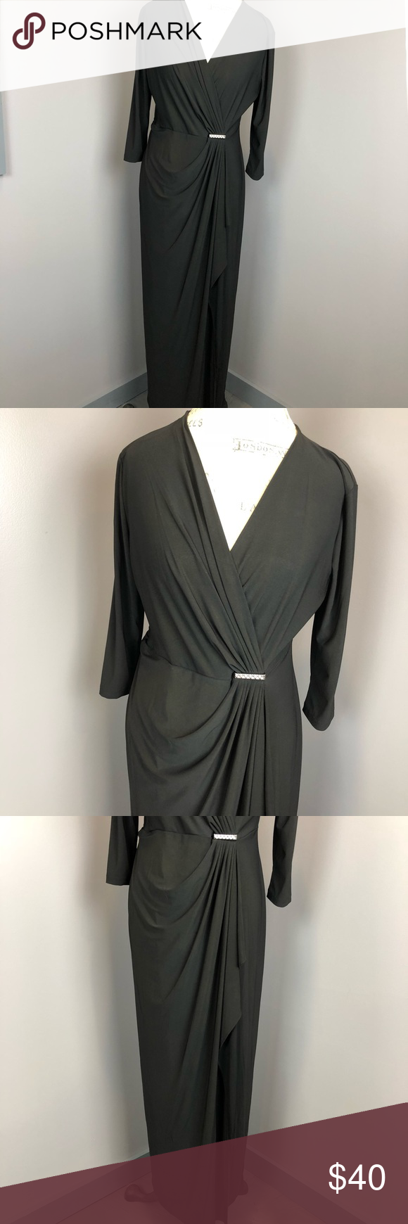 Soho apparel l black gown long dress my posh closet