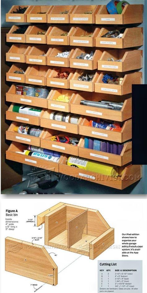DIY Hardware Organizer   Workshop Solutions Projects, Tips And Tricks |  WoodArchivist.com