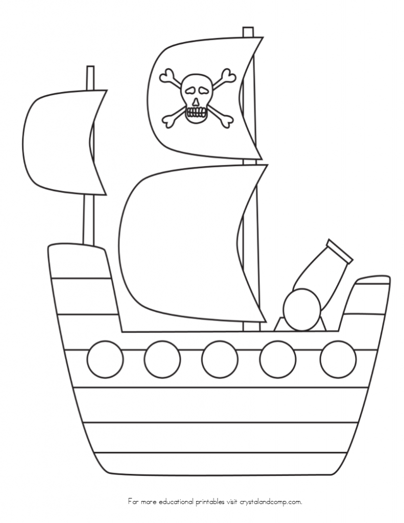 ship coloring page - pirate color pages for kids pirate ships ships and