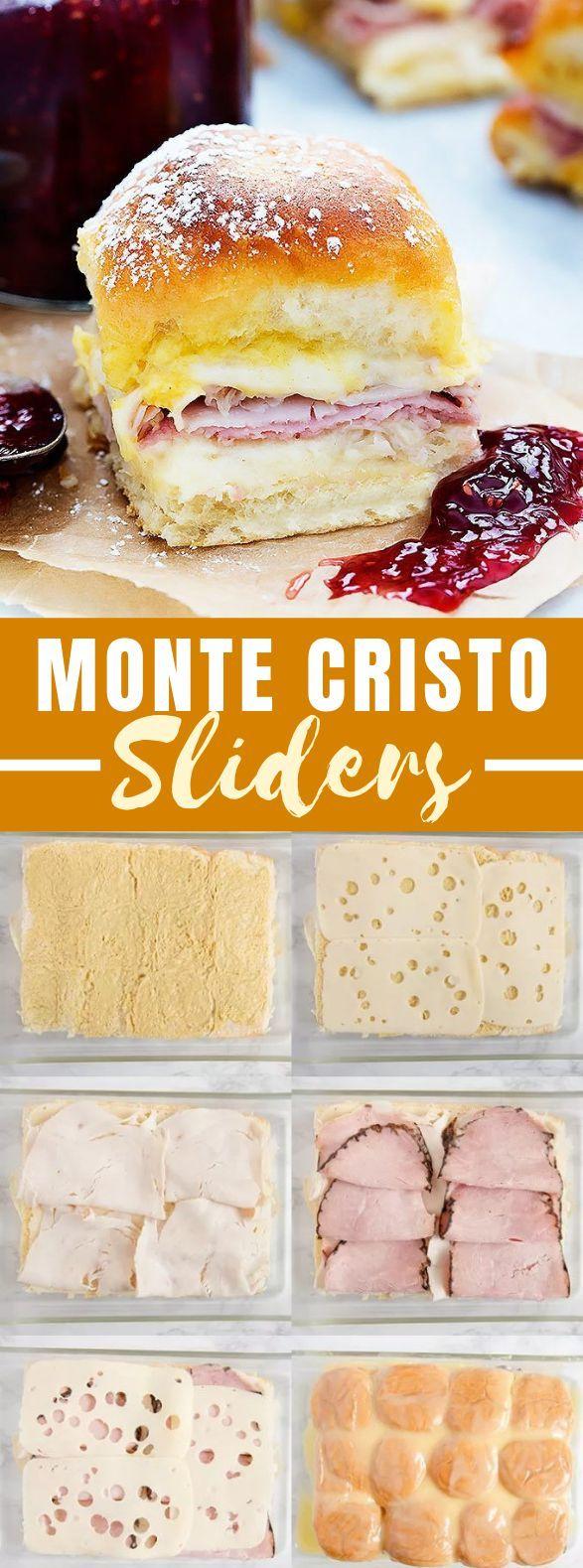 MONTE CRISTO SLIDERS #dinner #sandwiches