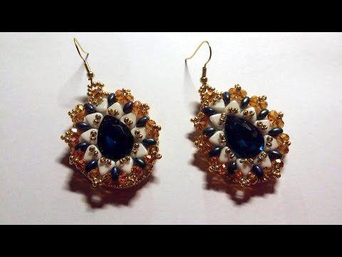 DIY - Orecchini Goccia d'oriente embroidery beads - YouTube