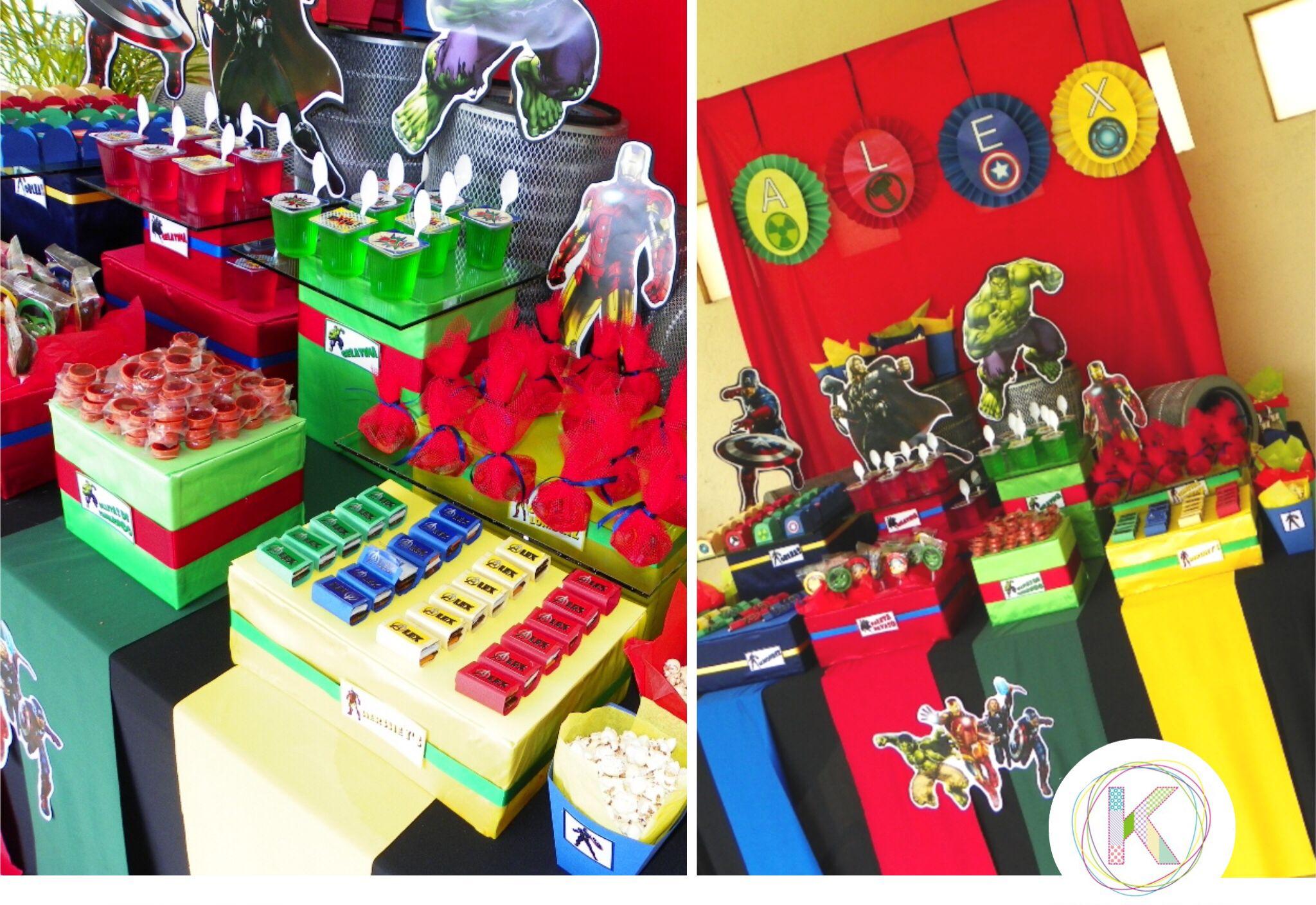 Mesa de dulces cumplea os fiesta thor hulk ironman - Bombas de cumpleanos ...
