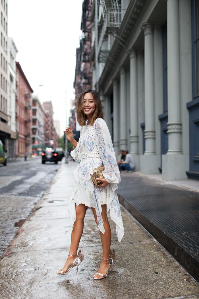 390bb7ea84ad aimee_song_of_style_bcbg_isidora_dress_sophia_webster Romantic Outfit,  Daily Fashion, Net Fashion, Spring Fashion, Bcbg Dresses,