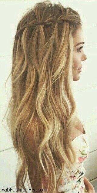 Simples E Bonito Peinados Peinados Trenza Suelto Peinados