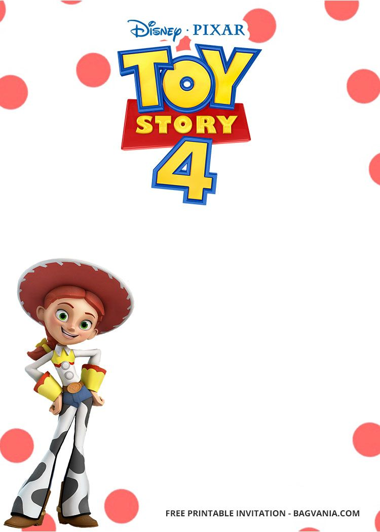 Free Printable Toy Story 4 With Photo Invitation Templates