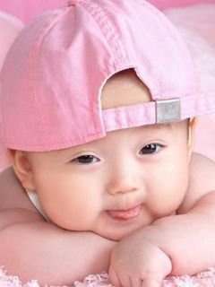 Cute Pink Baby Wallpaper
