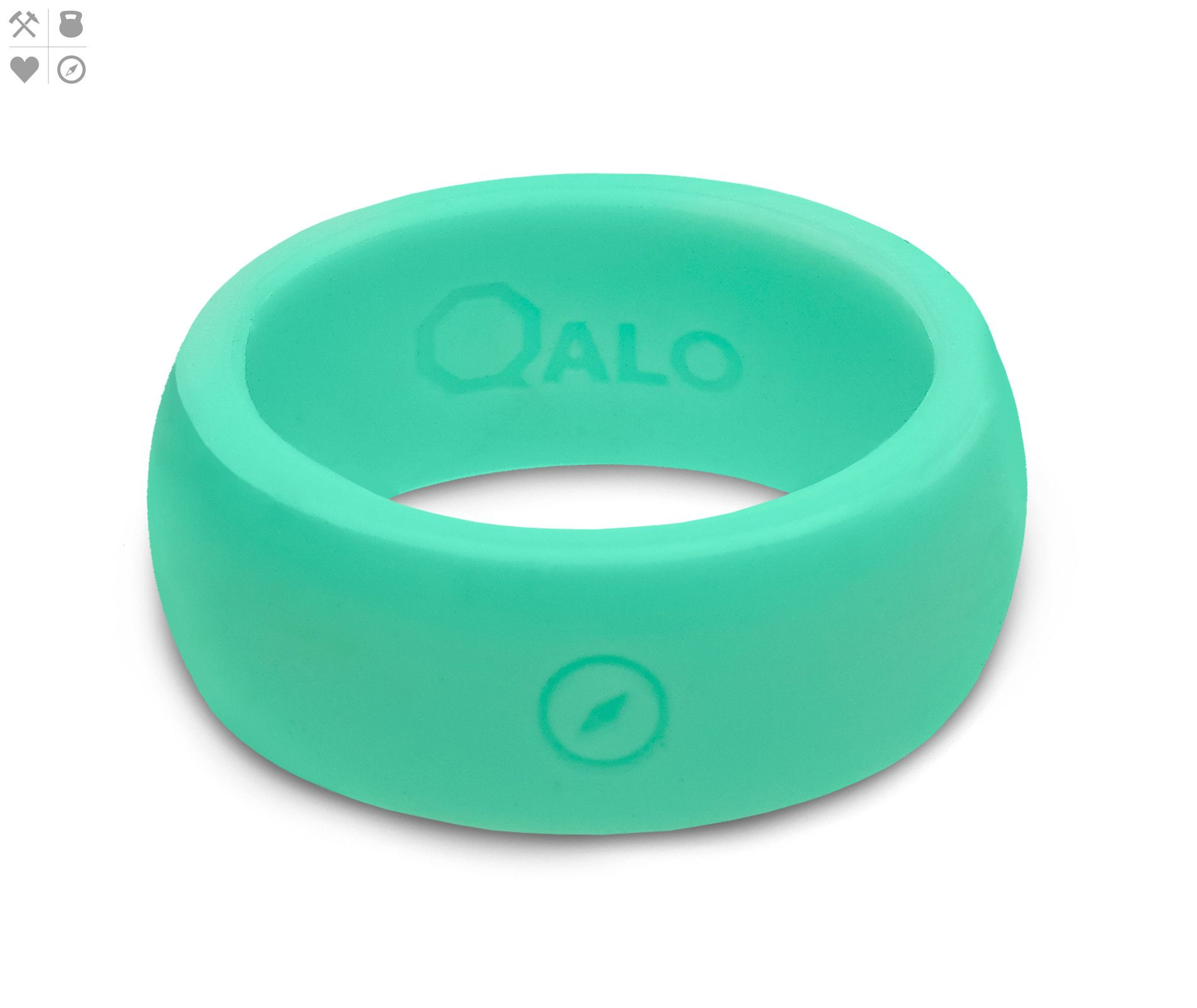 Mens Outdoors Aqua FoxFire Silicone Ring from QALO mr mrs
