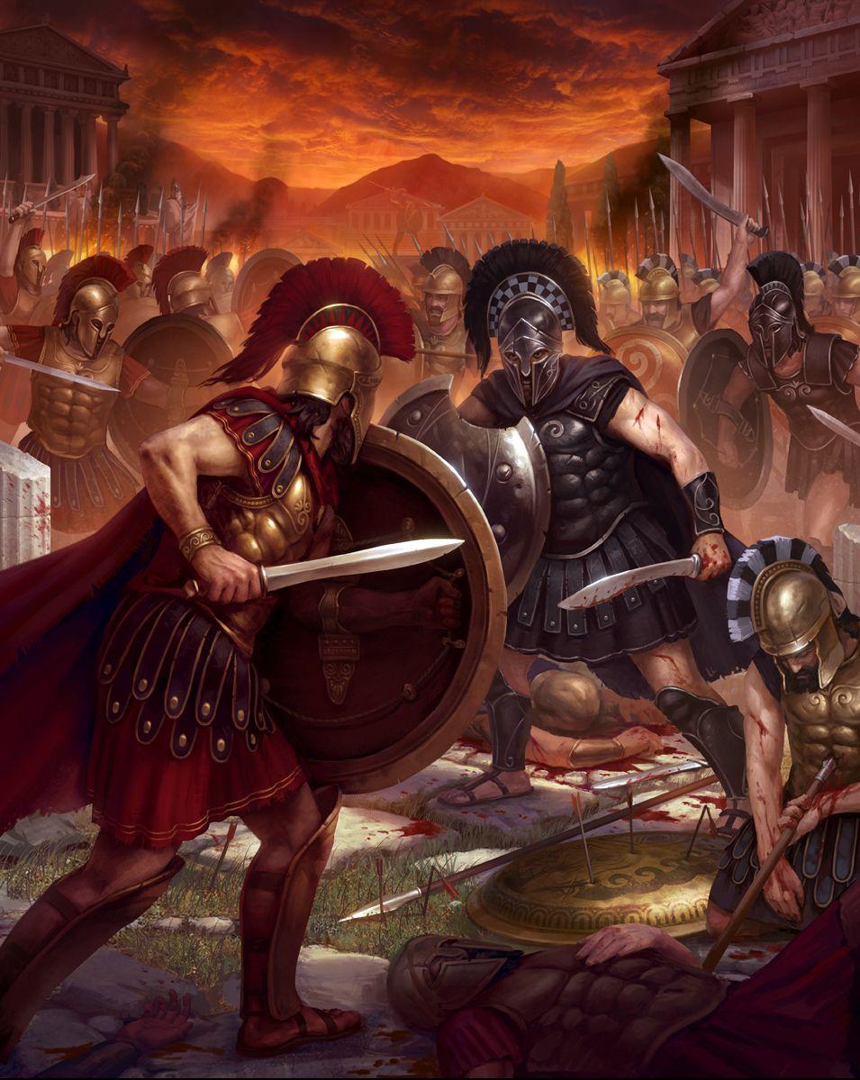 duel in sparta ancient war art pinterest greek