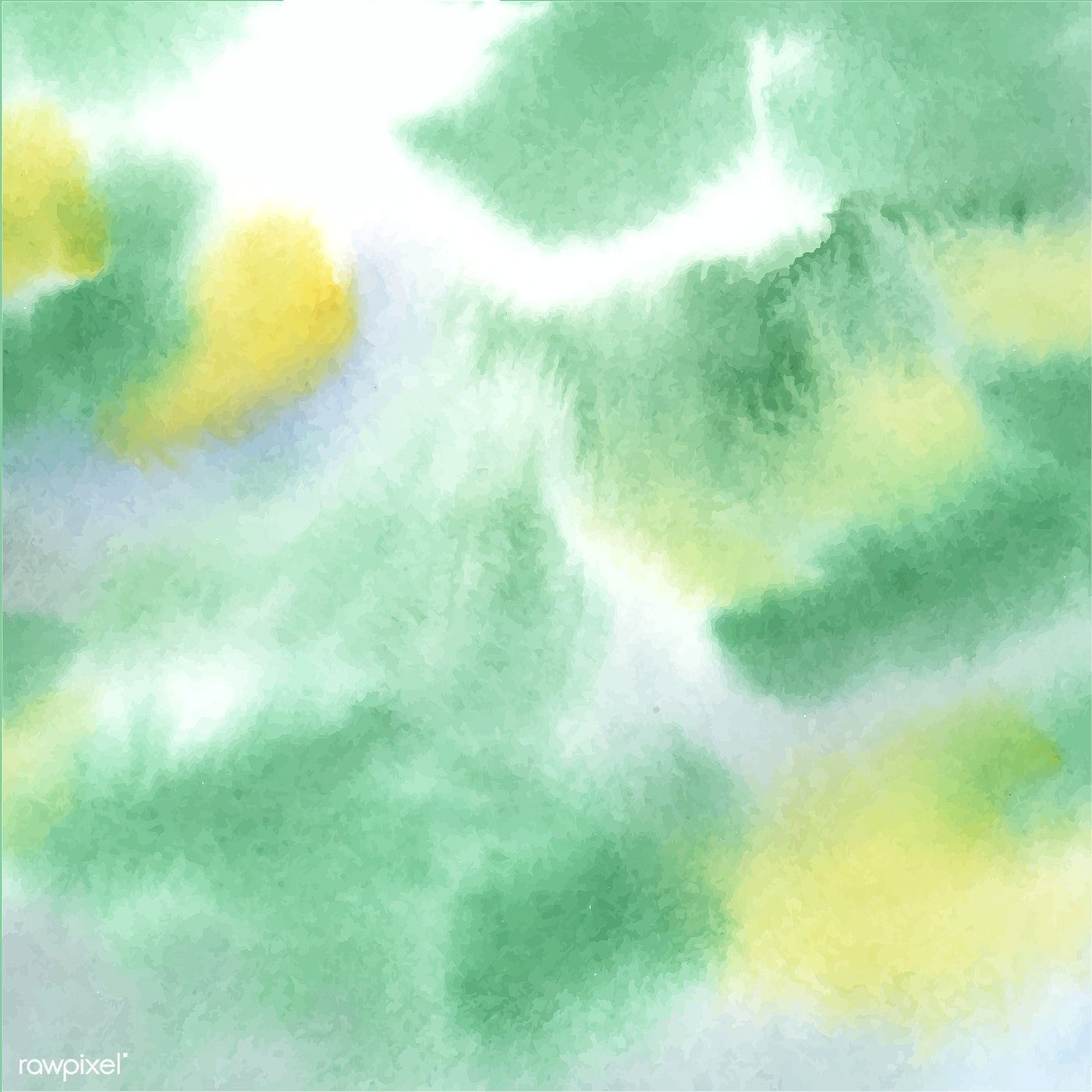 Abstract Green Watercolor Stain Texture Free Image By Rawpixel