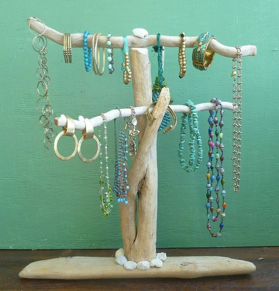 charming Driftwood Jewelry Holder Part - 15: Driftwood Jewelry Stand, Reclaimed Wood Jewelry Holder, Necklaces Bracelets  Display, Beach House Decor, Jewelry Boutique, Art Show Display,