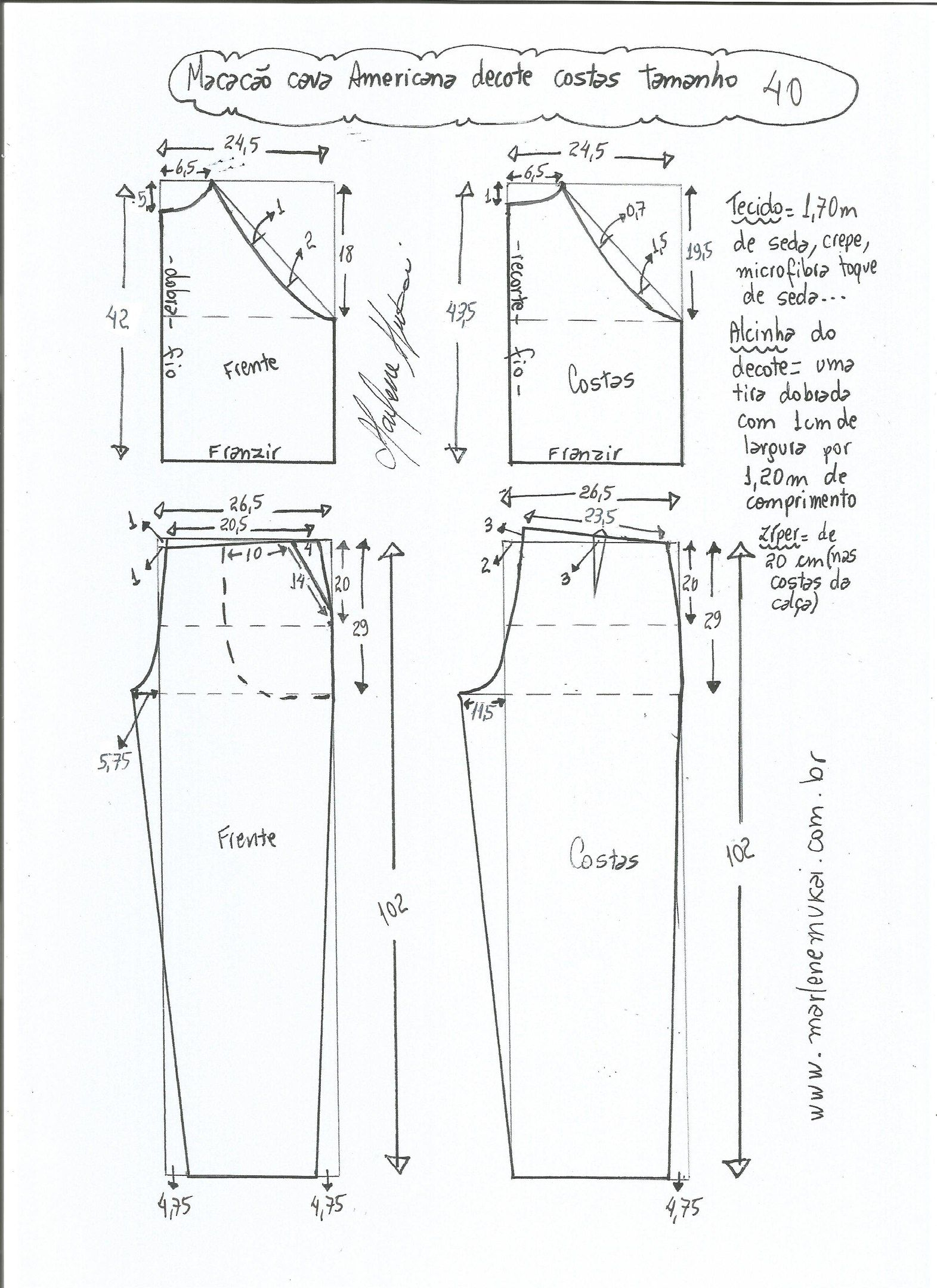 patrones-para-hacer-un-jumpsuit-largo-4 | بنطلون | Pinterest ...
