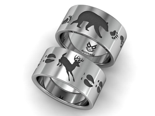 Bear and Deer track ring wwwduckbandbrandcom Duck band rings