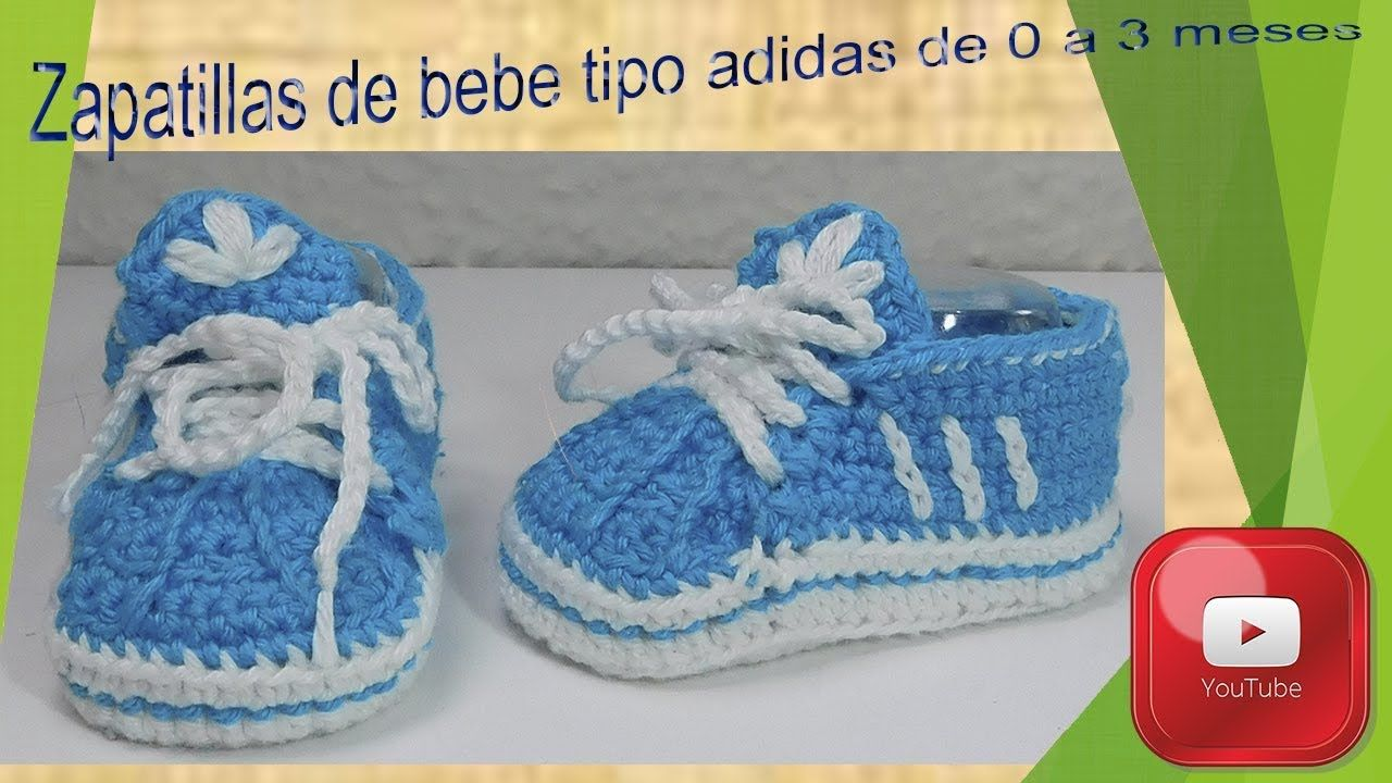 02ba1c3c6 Zapatillas tipo adidas para bebe de 0 a 3 meses.