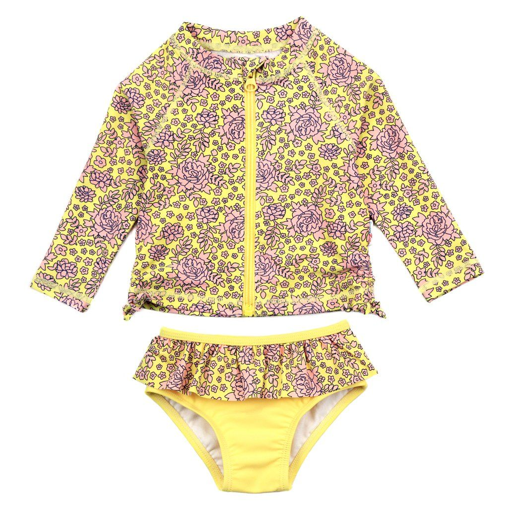 Kids Swimwear Long Sleeve Shirt /& Shorts Set Two Piece Bathing Suit Rash Guard
