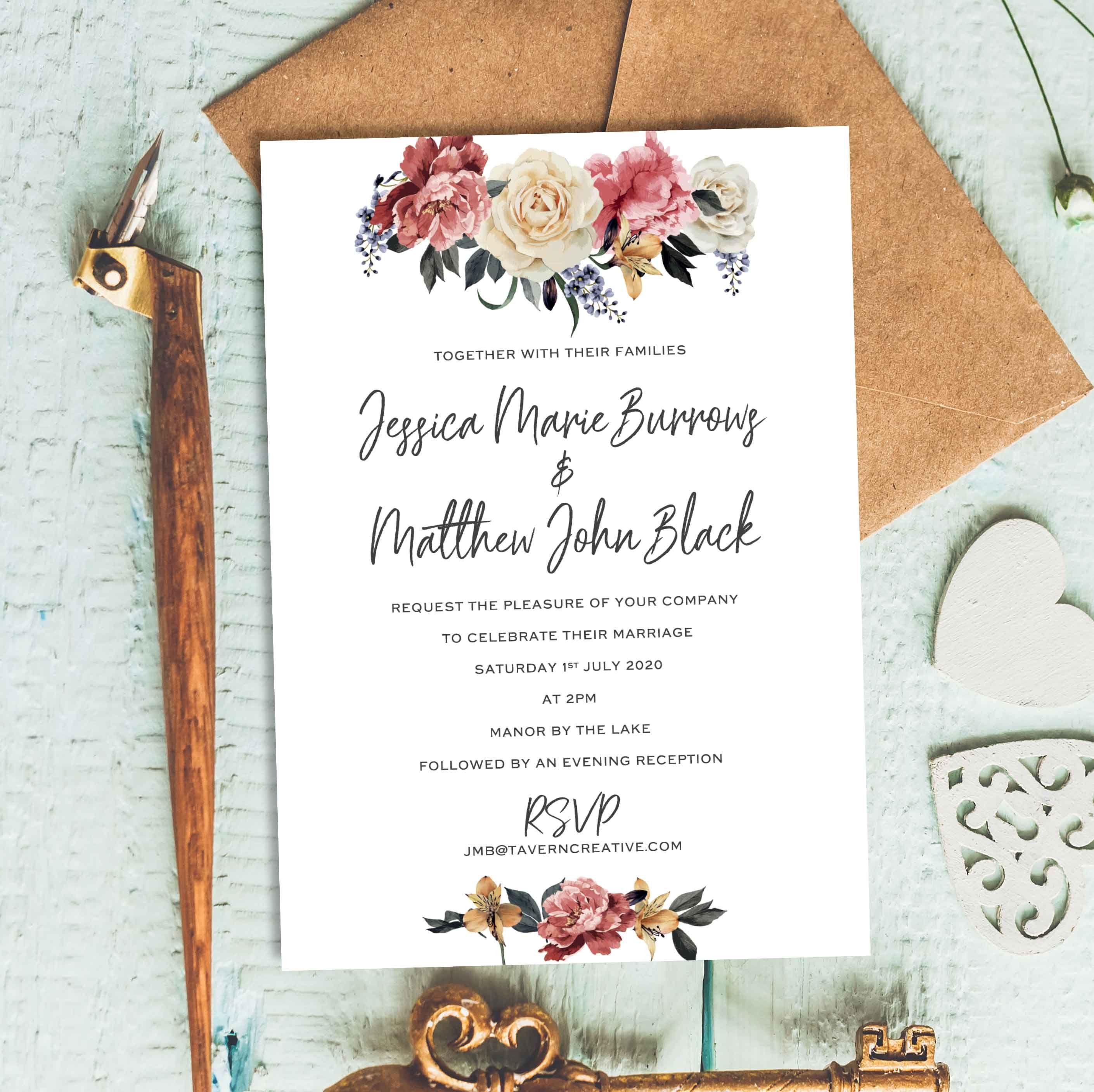 Wedding Invitations Indian Pinterest Ideas 2019 Floral Wedding Invitations Wedding Invitations Unique Wedding Invitations