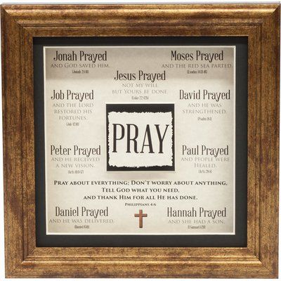 Carpentree Divine Inspiration 'Pray Easel Back' Framed Textual Art