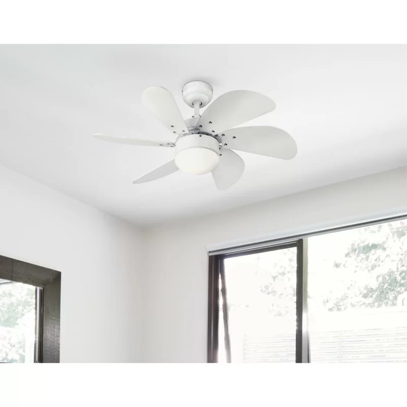 30 Larksville 6 Blade Leaf Blade Ceiling Fan With Pull Chain And Light Kit Included In 2020 Ceiling Fan With Light Ceiling Fan Ceiling Fan Light Kit