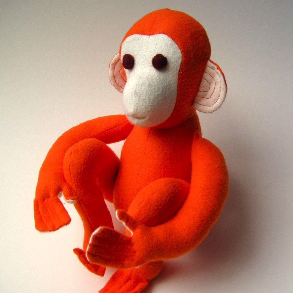 Organic Monkey TOY Stuffed Animal Baby and Toddler Eco