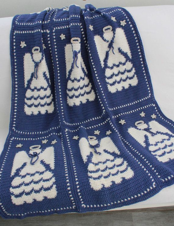 Angel Afghan Crochet Pattern-PA159 | Crafting | Pinterest ...