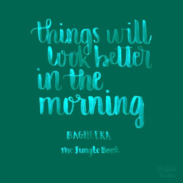 Jungle Book Quotes Inspiration Day 57100  The Jungle Book Quote  Things Will Look Better In