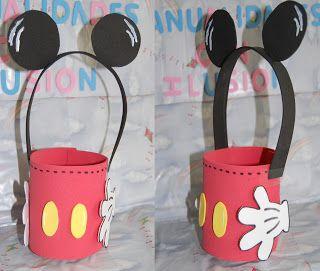 Goma Eva Minnie Mouse Manualidades Con Ilusion Dulceros Mickey Y