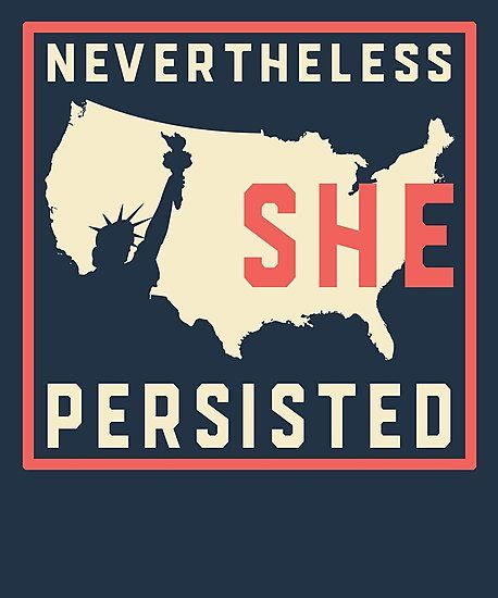 photo relating to Printable Signs for Women's March titled However she persisted resist with female independence