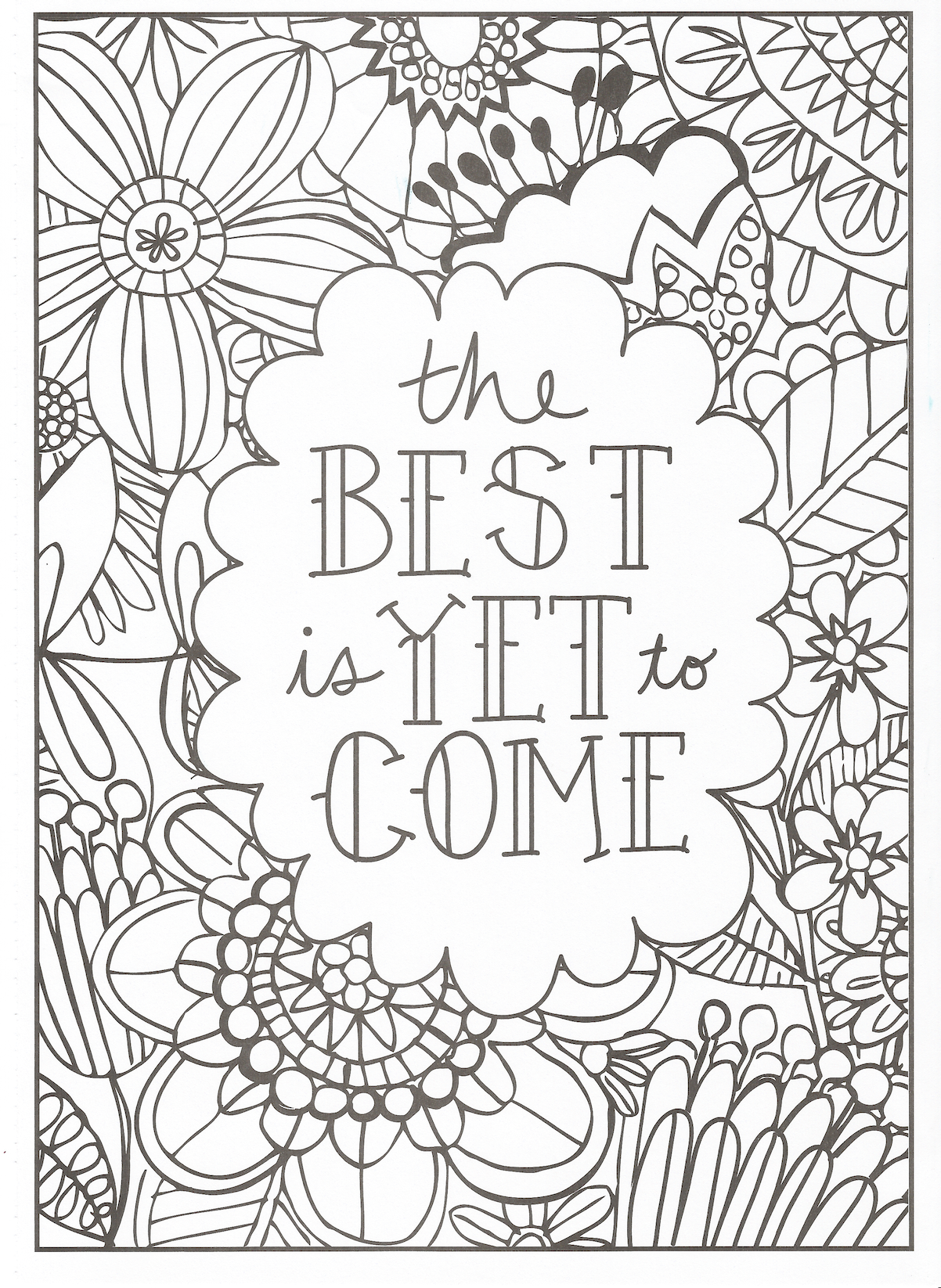 Timeless Creations Creative Quotes Coloring Page The ...