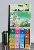 Testing the soil pH level for acid-loving fruits and veggies