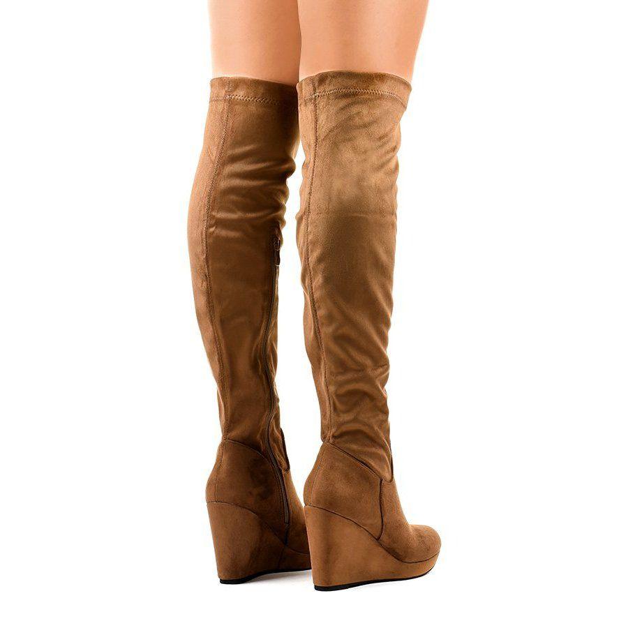 Boots Women S Butymodne Brown Knee Boots 6598 1 Boots Brown Knee Boots Womens Boots