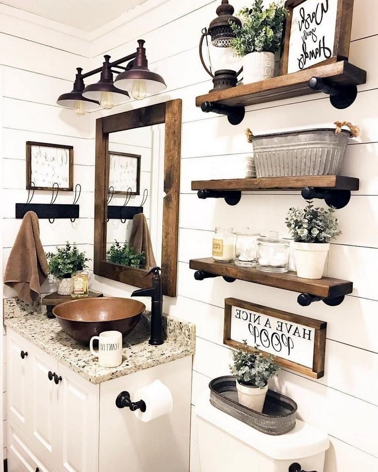 33 Interesting Farmhouse Decor Ideas For Bathroom Laundry Room