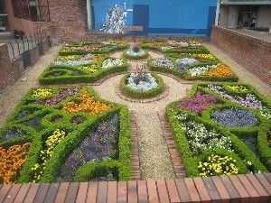 Knot Garden Design with herbs and flowers Herbs