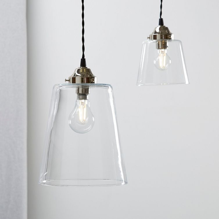 Tapered Glass Large Pendant Light Ceiling Lights The White Company With Images Small Pendant Lights Ceiling Pendant Lights Large Pendant Lighting