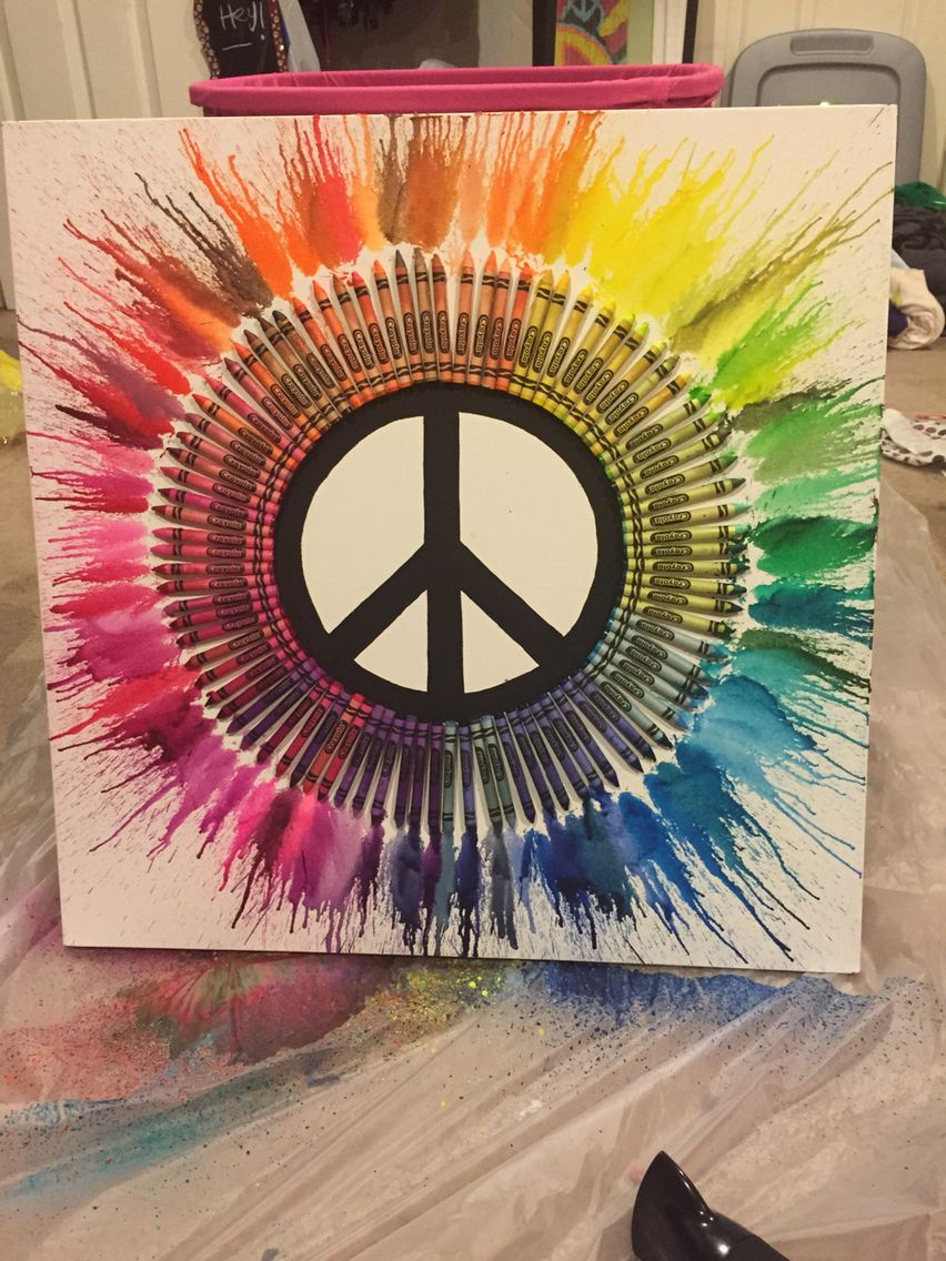 Peace Sign Decor For Bedroom Melted Crayon Guitar I Totally Want To Make Something Like This