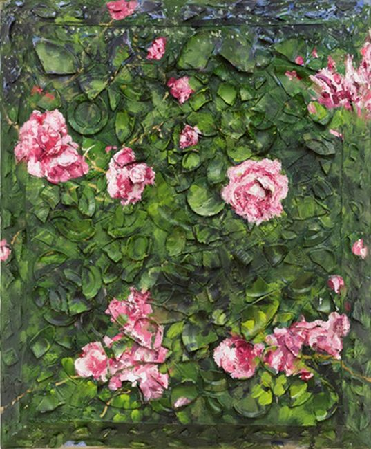 Julian Schnabel, Rose Painting (Near Van Gogh's Grave) III