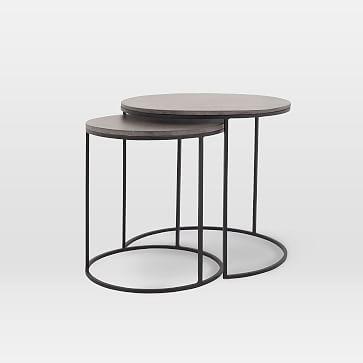 Best Lavastone Round Nesting Side Tables Set Of 2 Side 400 x 300