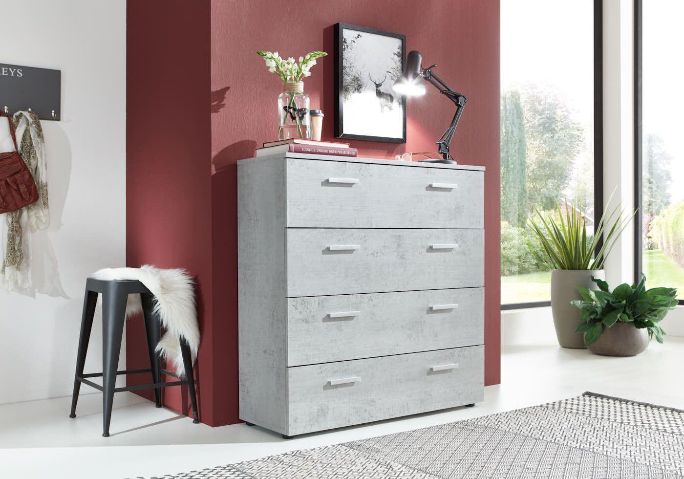 Grosse Kommode In Betonoptik Furniture Livingroom Living