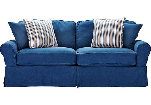 Best Cindy Crawford Home Beachside Blue Denim Sleeper Denim 400 x 300