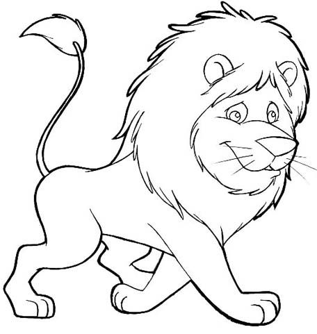 free animals lion printable painting for preschool Lion Coloring