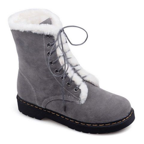 GET $50 NOW | Join RoseGal: Get YOUR $50 NOW!http://www.rosegal.com/boots/lace-up-flat-heel-fuzzy-short-793619.html?seid=6830184rg793619