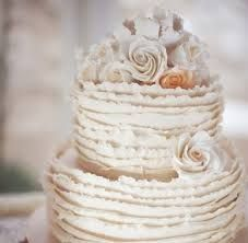 wedding cake ruffles - Google Search