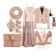 lovee-  Rose Poudré Hijab Outfit by le-hijab-de-doudou on Polyvore featuring ESCADA, Balenciaga, Christian Louboutin, ASOS, Olivia Burton, Plukka, Forever 21, Tom Ford and OPI