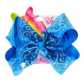 JoJo Siwa Large Hair Bow Blue Bandana Print Free Delivery